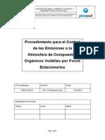 Procedimiento Control Emis Atm COV Focos Estac Rev.0 21-03-11
