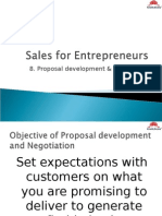 Sales for Entrepreneur- Compelling Proposals & Negotiating Terms