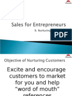 Sales for Entrepreneur -Nurturing Customers