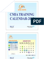 CMIA Training Calendar 2015