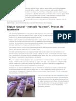 Sapun Natural - Metoda La Rece