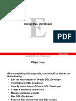 Using SQL Developer