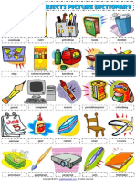 classroom objects supplies 1 pictionary poster worksheet