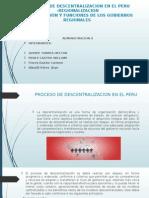 Proceso de Descentralizacion en El Peru
