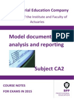 Subject CA2-Model Documentation, Analysis and Reporting