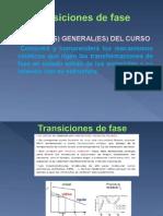 Transiciones de Fases Unidad II Cinètica de Las Transformaciones de Fase