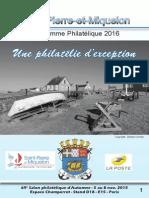 Les timbres de Saint-Pierre et Miquelon en 2016
