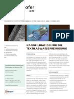 Nanofiltration Fuer Die Textilabwasserreinigung 2011