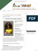 Oraculo Lenormand_ La Dama - La Magia Del Tarot