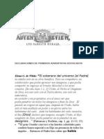 Declaraciones de Pioneros Adventistas Destacados