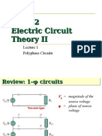 Ee132 Lec 1 Polyphase Circuits