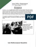 Suspect Release Document