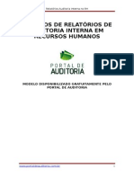 Relatório Auditoria Interna RH