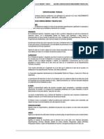Especificaciones Construccion de Veredas, Bermas y Reasfal