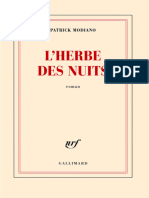 Patrick Modiano-L'Herbe Des Nuits-Folio (2014)