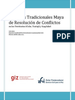 Zfd Practicas Tradicionales Maya de Resolucion de Conflictos 1531