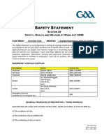 gort gaa club - safety statement 2011