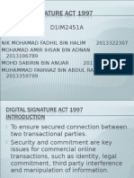 Digital Signature Act 1997