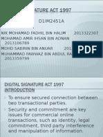 Digital Signature Act 1997