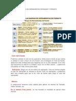 Iconos de La Barra de Herramientas Estandar y Formato