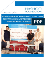 Hashoo Foundation Handed Over 45 School Desks to Rotary Pakistan Literacy Mission in Karachi_9!28!2015