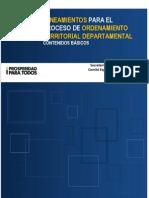 Lineamientos Para Adelantar El Proceso de OT Departamental