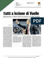 Tutti a lezione di Vuelle - Il Corriere Adriatico del 29 ottobre 2015