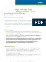 Change Management for Supply Chain