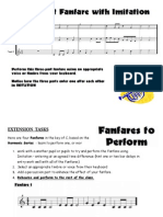 3 part fanfare and extention task