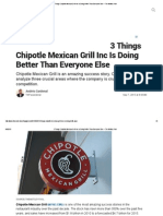 3 Things Chipotle Mexican Grill Inc is Doing Better Than Everyone Else -- The Motley Fool