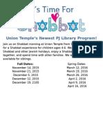 It's Time for Shabbat Flyer