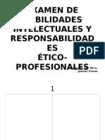 Plantilla 2. Examen de Habilidades Intelectuales y Responsabilidades