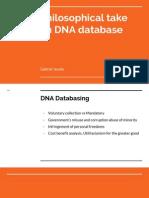 philosophical take on dna database presentation