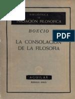 Boecio, La consolación de la Filosofía