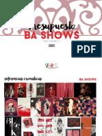 BA Shows Paper Inicial