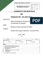 044-2014-TM_OBM_PRO-01 Procedimiento de Montaje de Tanque 151,000 Gln