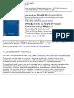 10 años de investigación en comunicación en salud
