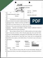 Plainte déposée contre Thomas Fabius