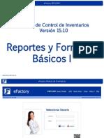 Modulo de Inventarios de EFactory ERP Reportes y Formatos Basicos I