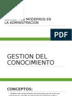 Conceptos Modernos en La Administracion
