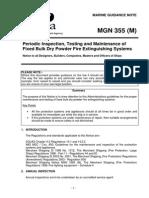 Maintenence of Fixed Dry Bulk Extinguisher
