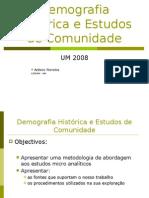 Demografia histórica e estudos de comunidade
