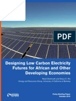 Designing Low Carbon Electricity Futures for African and Other Developing Countries