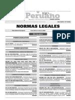 Normas Legales, jueves 29 de octubre del 2015
