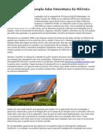 Especialistas En Energía Solar Fotovoltaica En México