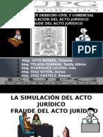 Simulación y Fraude Del Acto Jurídico Ok