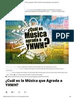 ¿Cuál es la Música que Agrada a YHWH_ _ Ministerio Puerta de Esperanza – www.koltorah.pdf