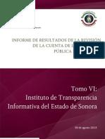 Tomo VI Instituto de Transparencia Informativa Del Estado de Sonora