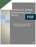 Reporte1 Radiación Solar OPT101