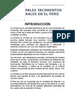 Yacimientos Minerales en Perú